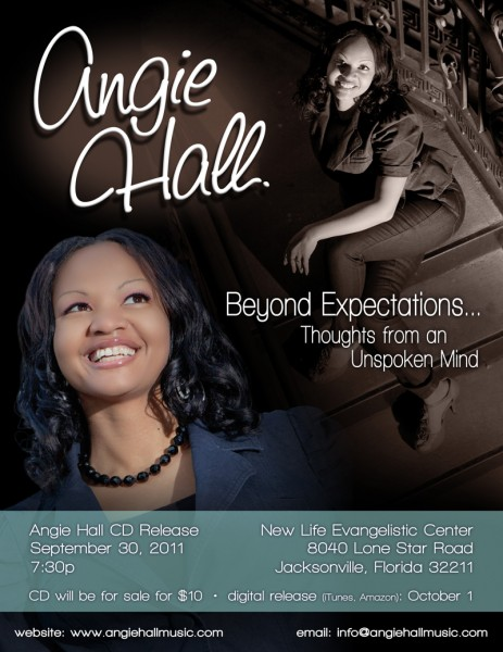 Angie Hall CD release poster