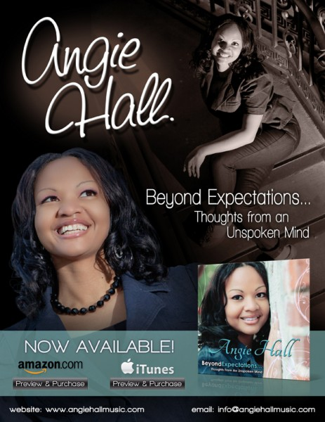 Angie Hall album release email