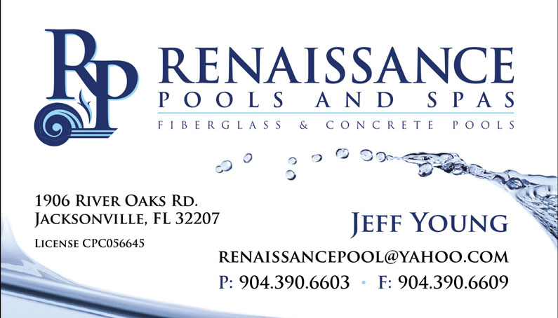 Renaissance Pools Business Card